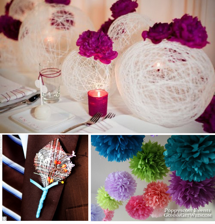 Do it yourself wedding decorations | Dress wedding